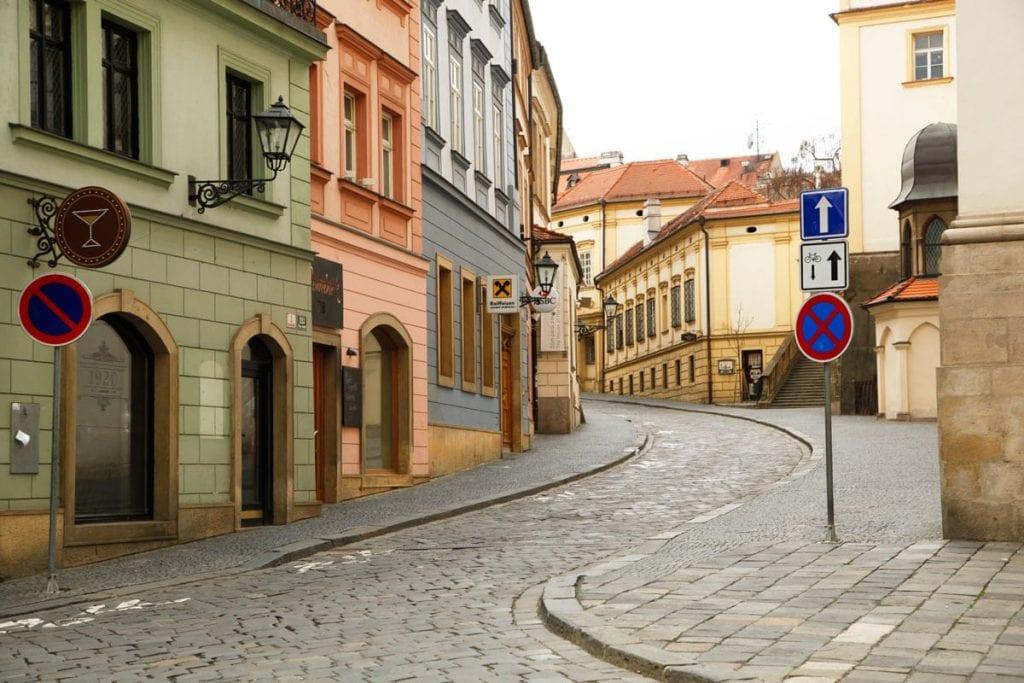 Gekleurde straatjes in tsjechie