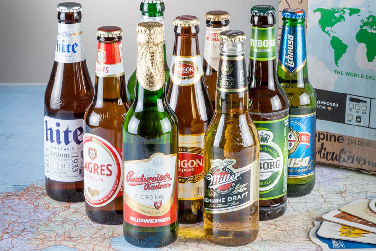 Cadeaus voor mannen - Internationaal bierpakket