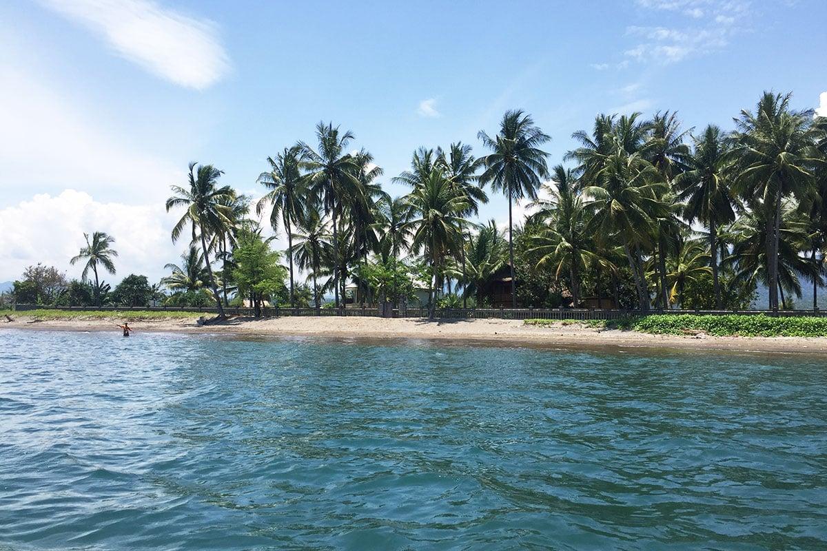 met de boot van Bangsal Harbour naar de Gili eilanden