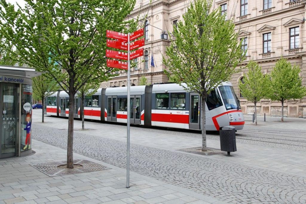Tram in Brno openbaar vervoer