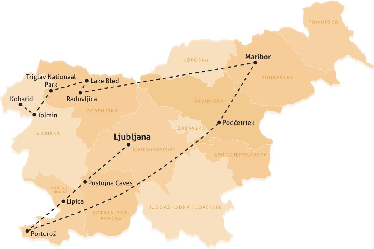 reisroute slovenie rondreis