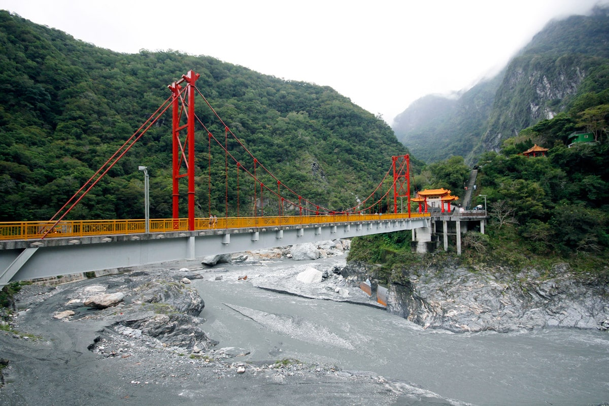 Taroko Gorge Nationaal Park Pudu Bridge