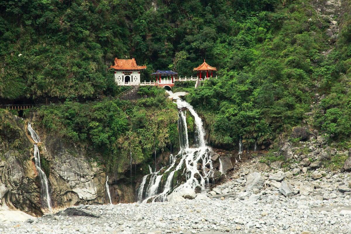 Taroko park Taiwan tempels