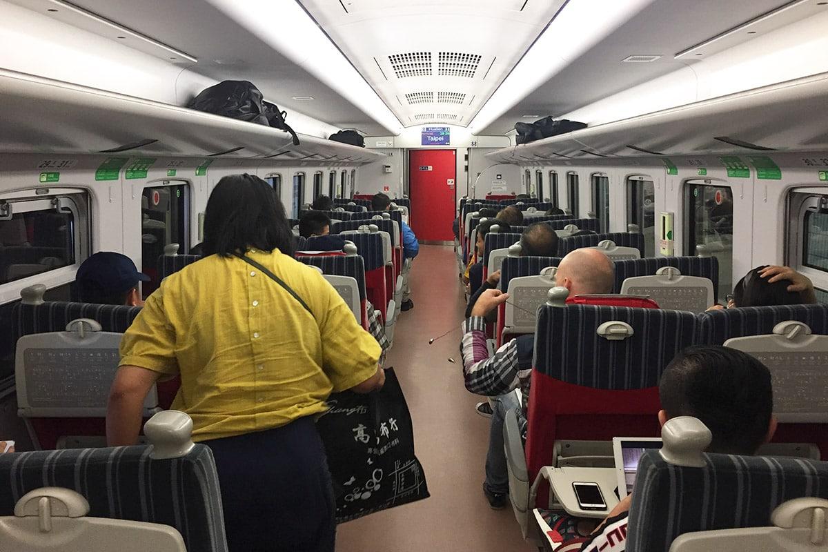 Trein van Taipei naar Hualien Taiwan