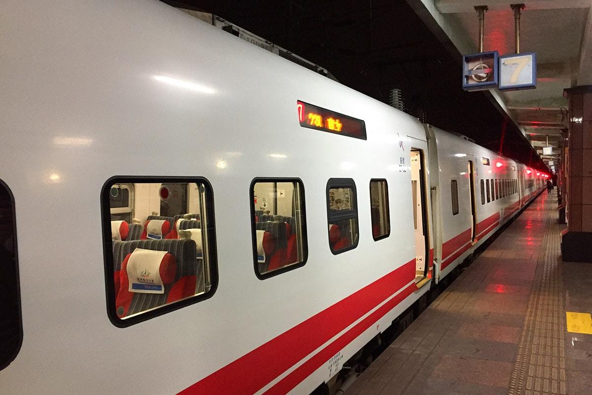 Trein van Taipei naar Hualien