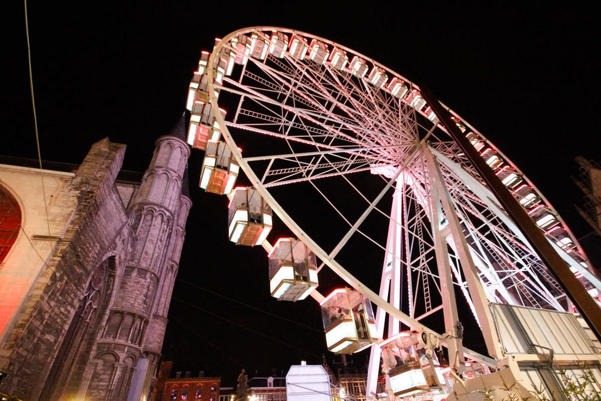 Reuzenrad kerstmarkt Gent
