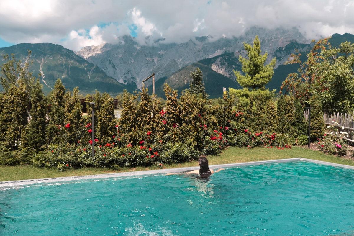 Wellness warmwaterbad met bubbelbad in Oostenrijk