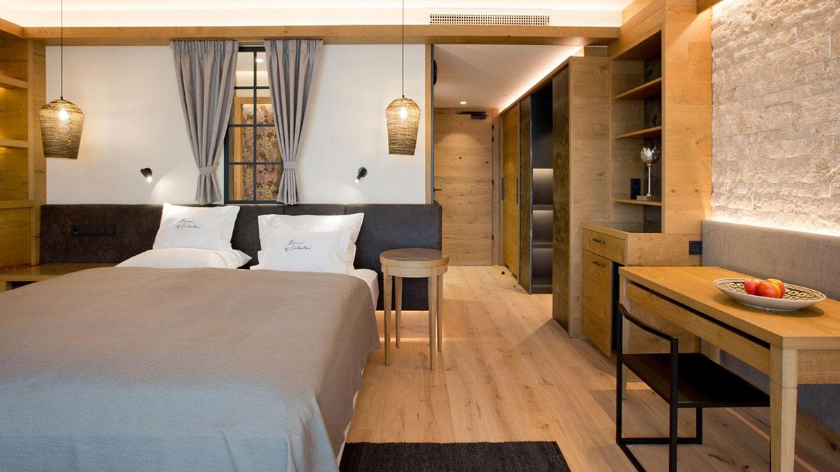 Moderne kamers in het Schwarz wellness hotel
