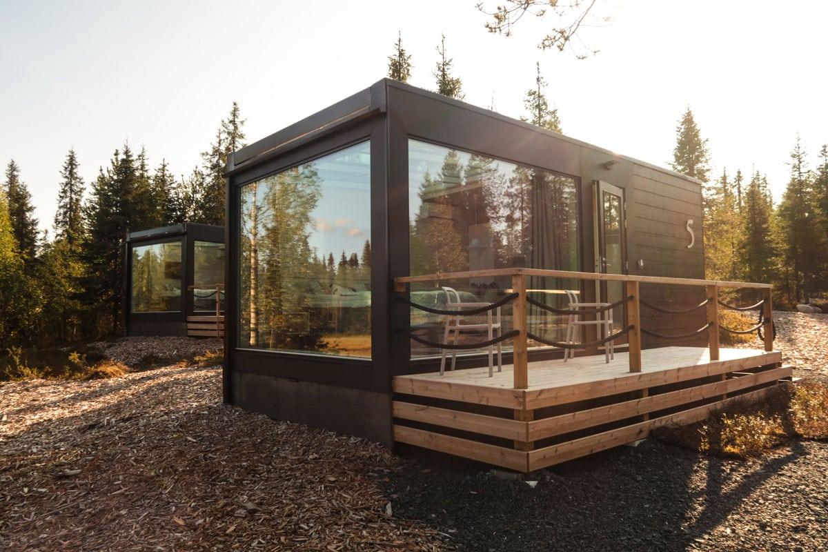 Glass villa Noorderlicht huisje in Lapland
