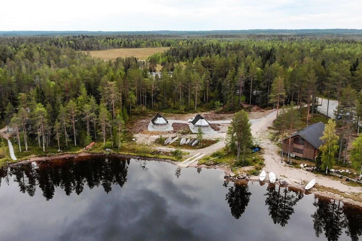 Huisje met glazen dak in Lapland