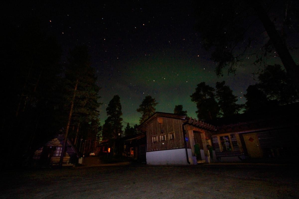 Het noorderlicht in Fins-Lapland