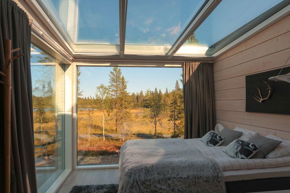 Luxe glazen iglo villa in Fins-Lapland