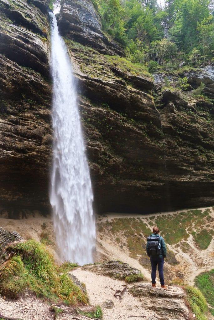 Peričnik waterval in Slovenië