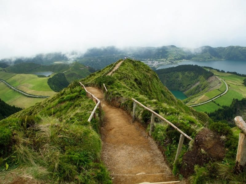 sete cidades viewpoint azoren