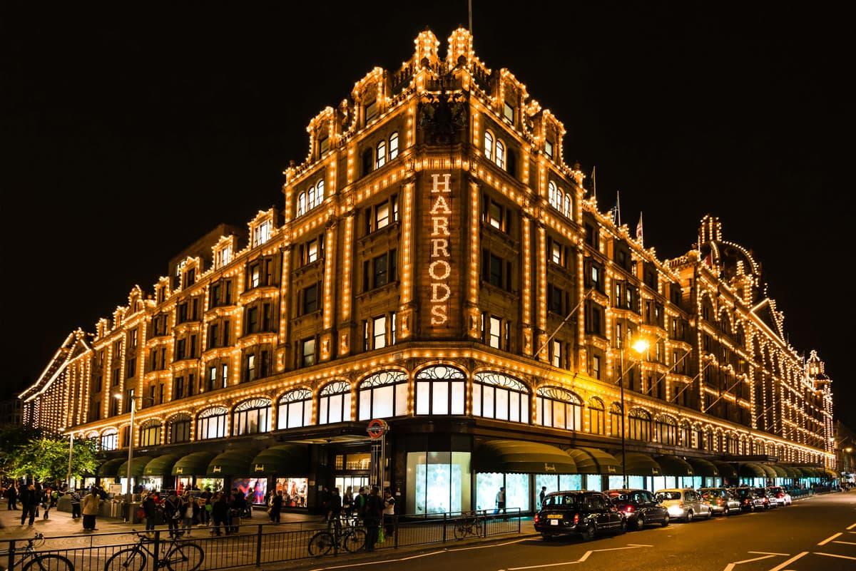 Winkelen bij Harrods in Londen