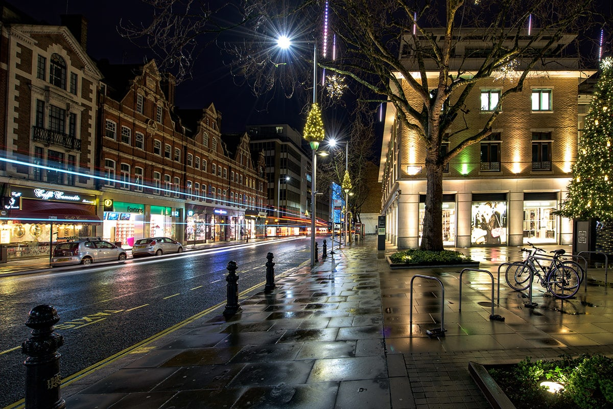 Londen Kerst Kings road