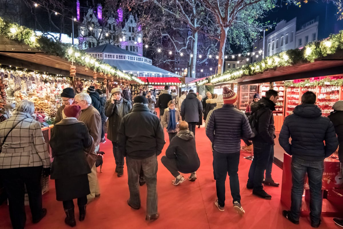 Leicester Square Christmas Market Londen