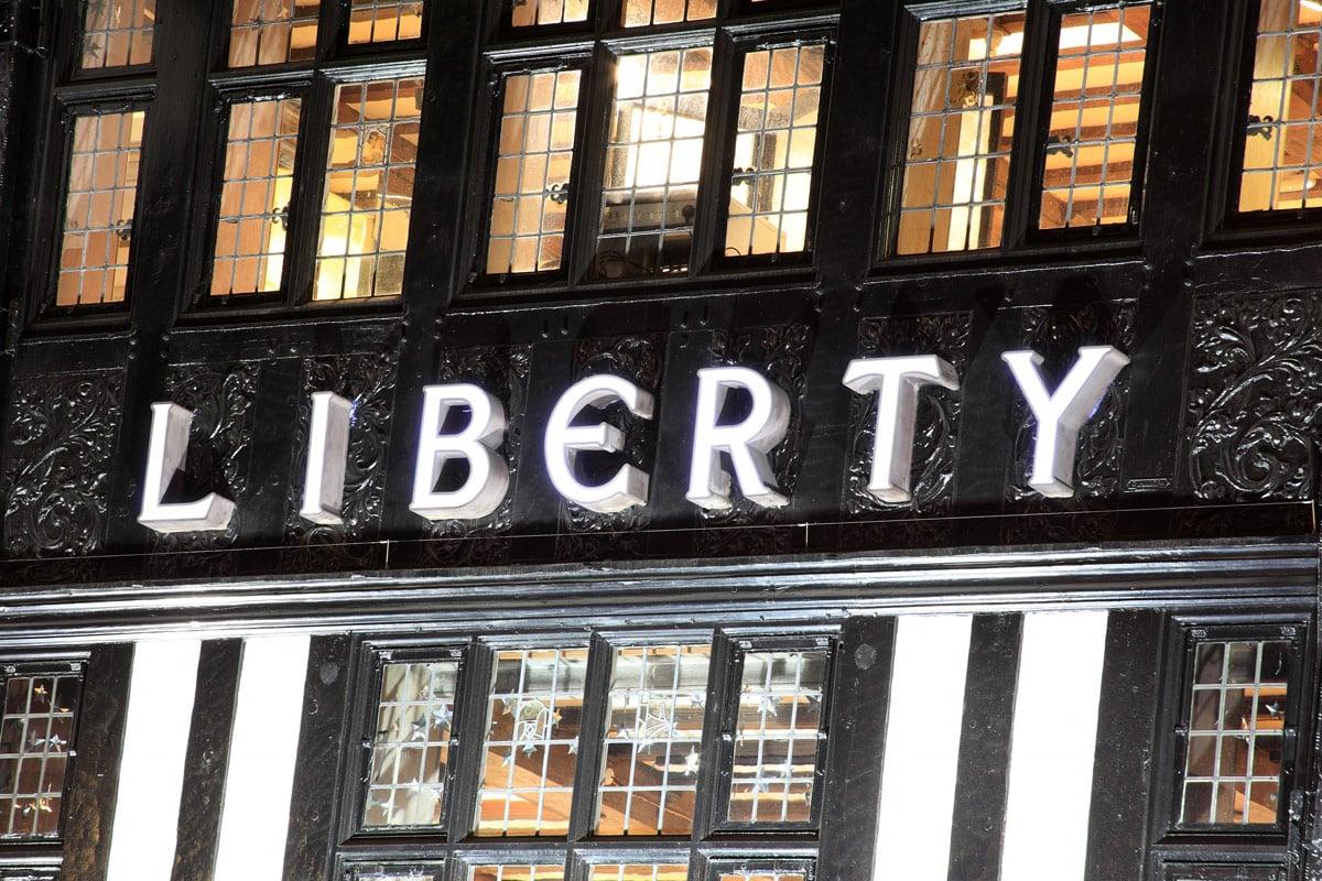 Warenhuis Liberty Londen luxe winkels