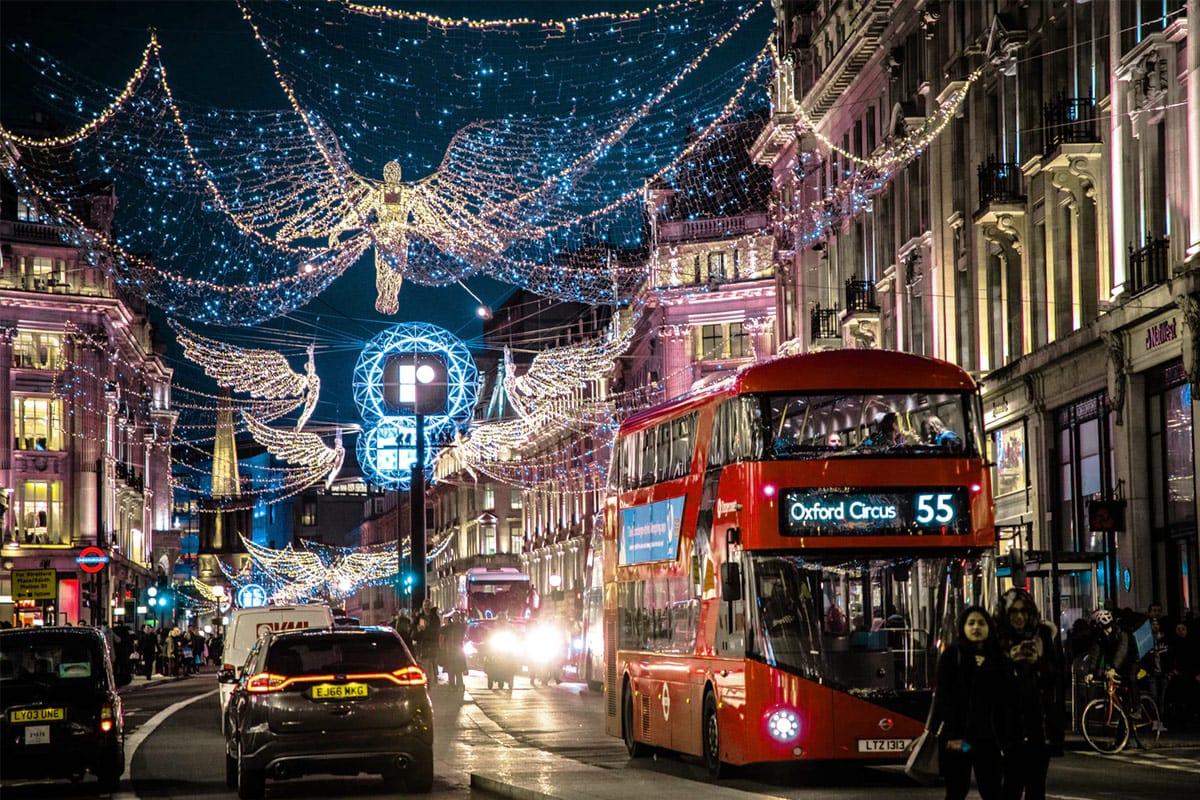 Kerstversieringen Londen Regent Street