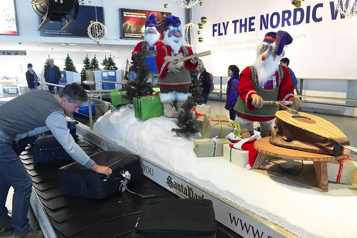 Kerst op het vliegveld van Rovaniemi