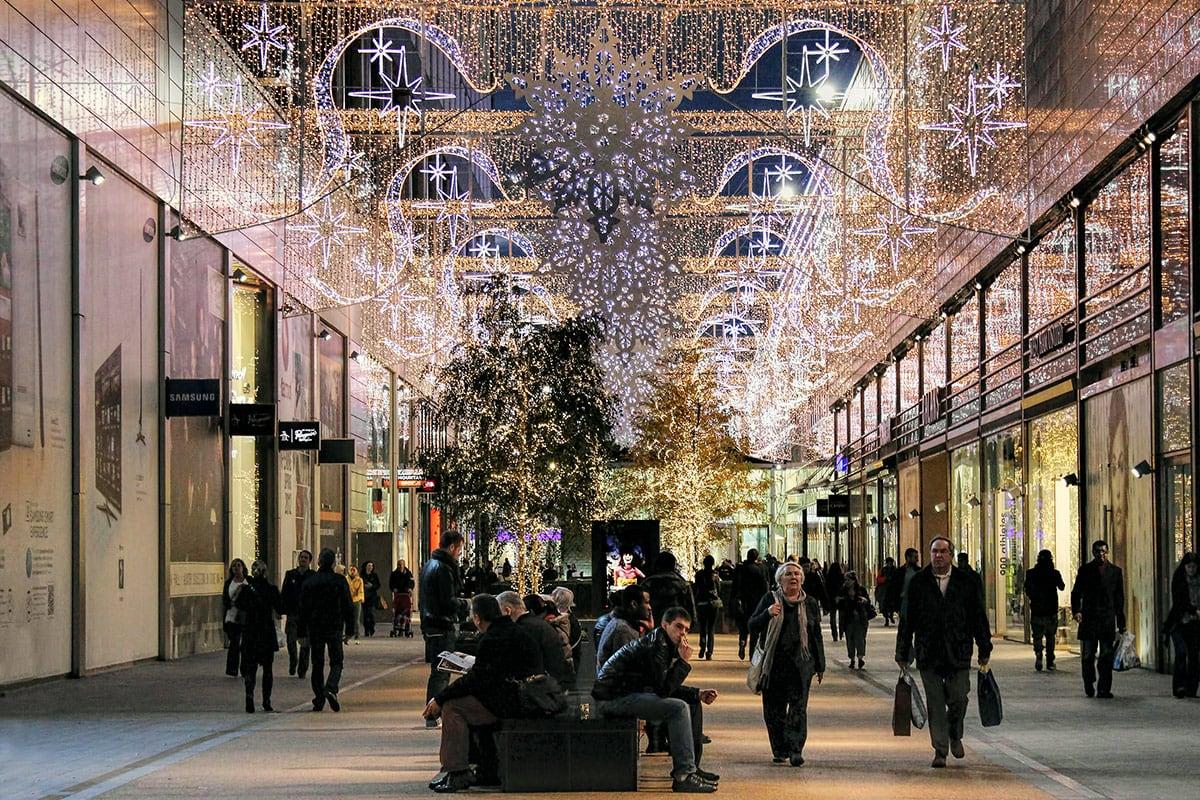 Kerstshoppen winkelcentrum Westfield Londen