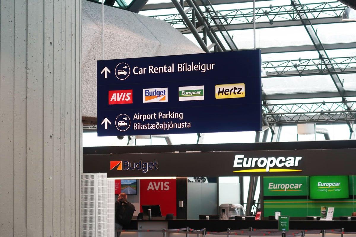 Autohuur vliegveld IJsland
