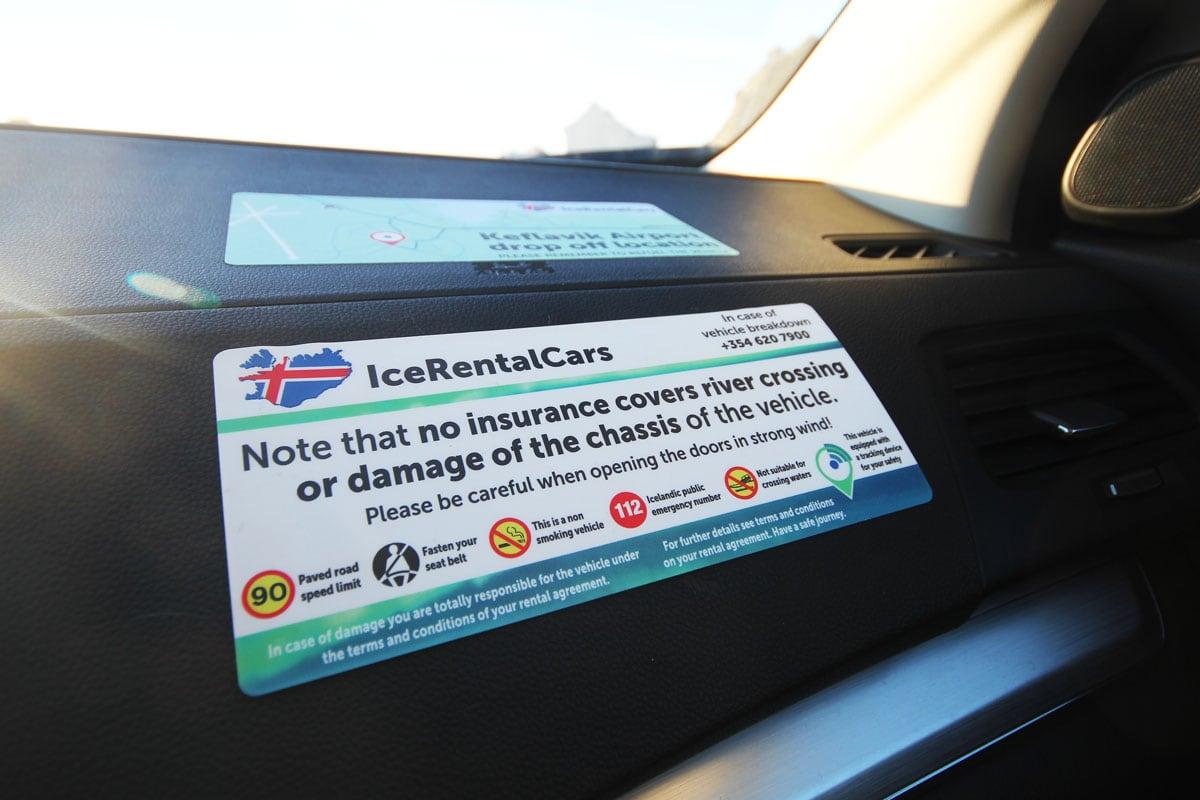 Autohuur IJsland verzekering