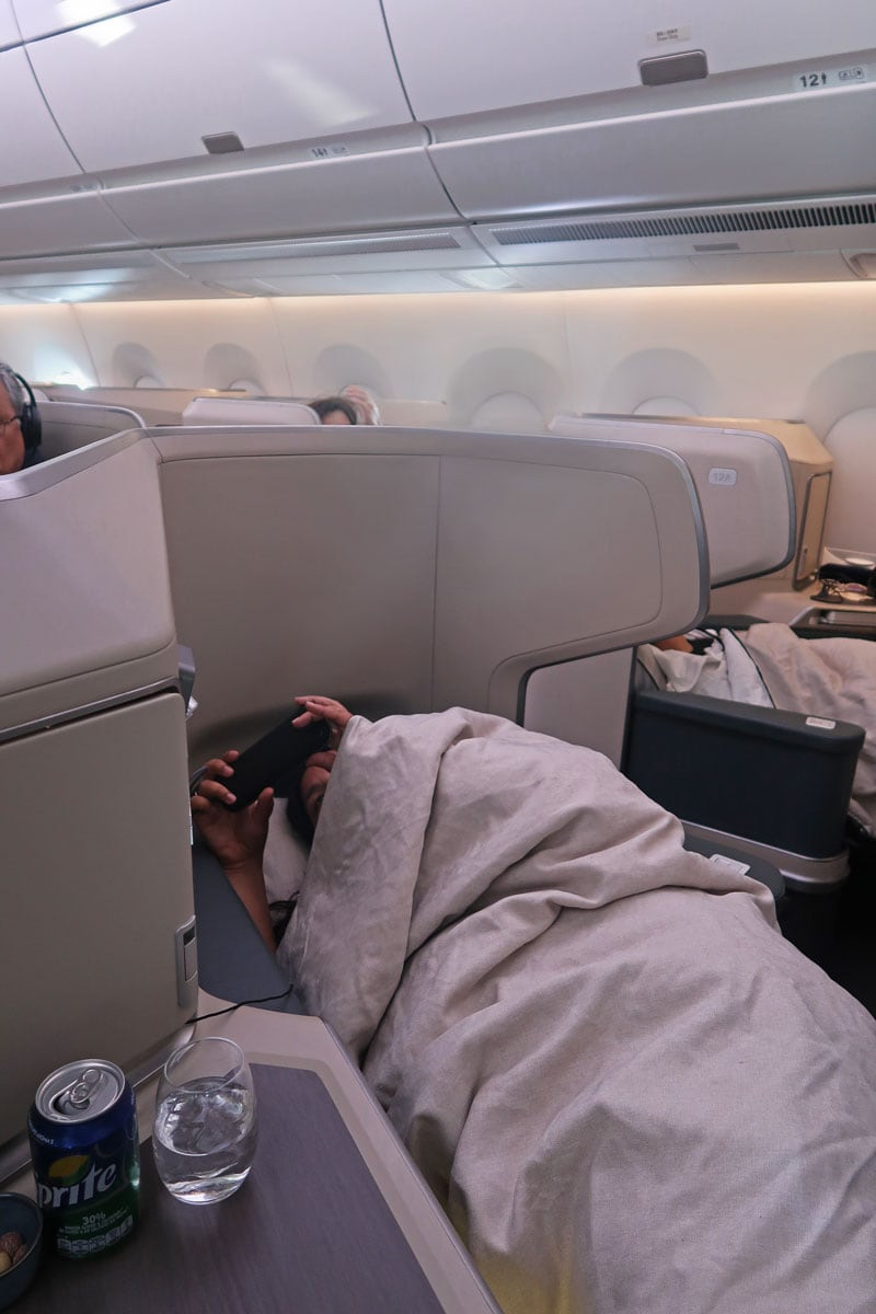cathay pacific business class flat beds