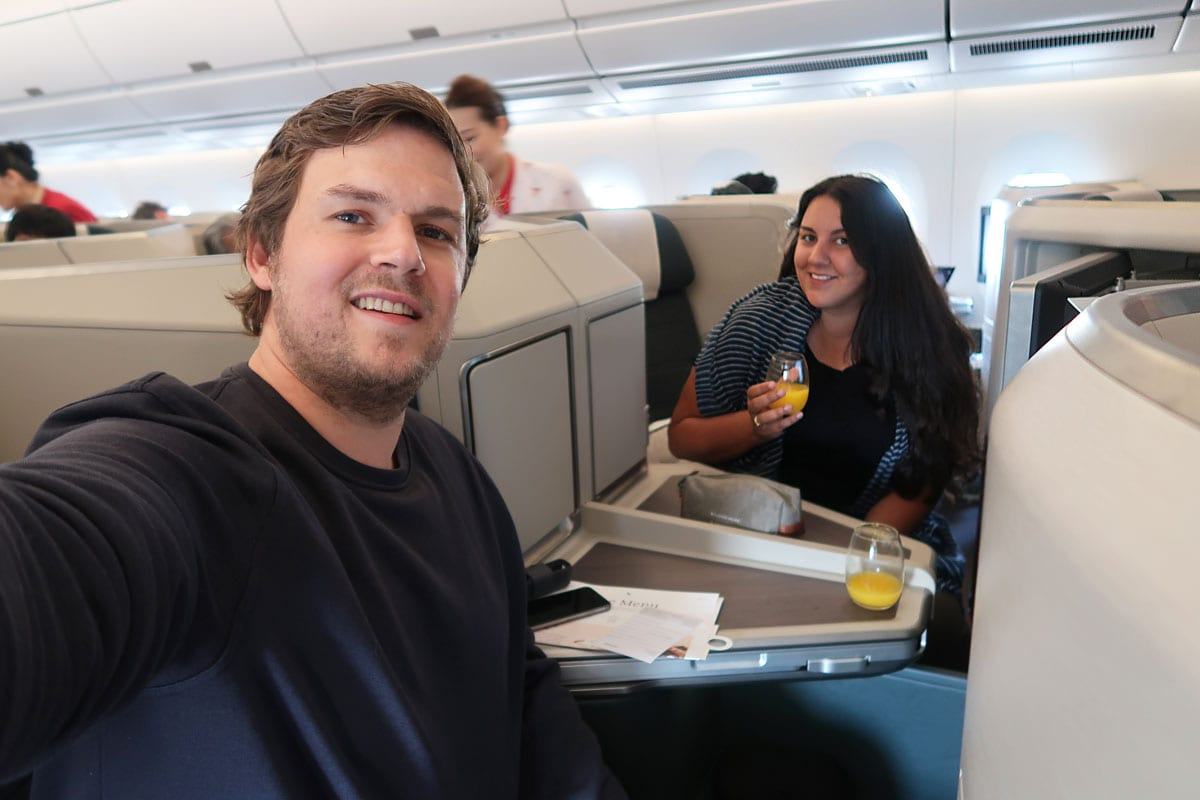 cathay pacific business class vliegen