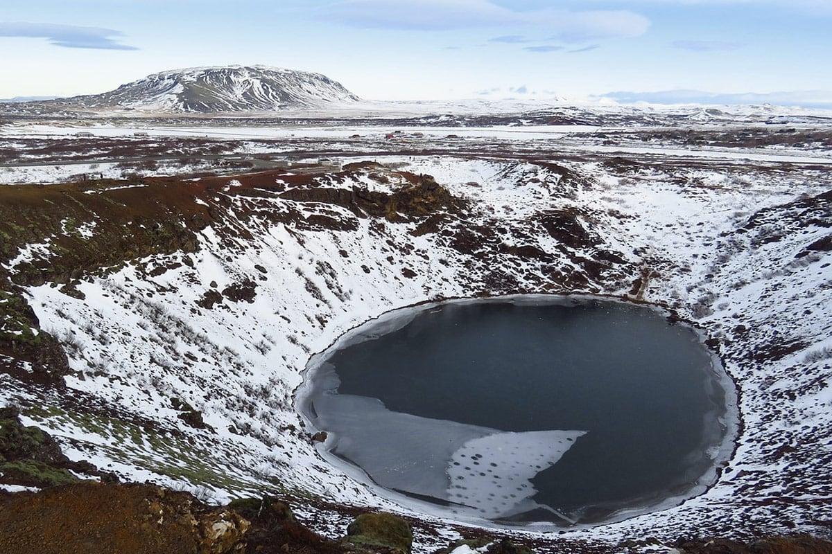 Bezienswaardigheden Golden Circle Route - Kerid krater