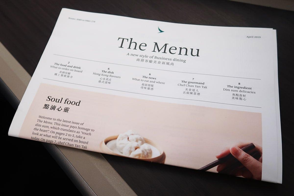 cathay pacific menu amsterdam hong kong