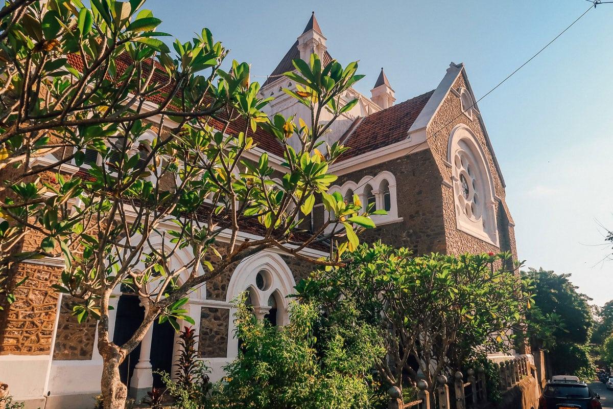 Kerk in Galle Sri Lanka