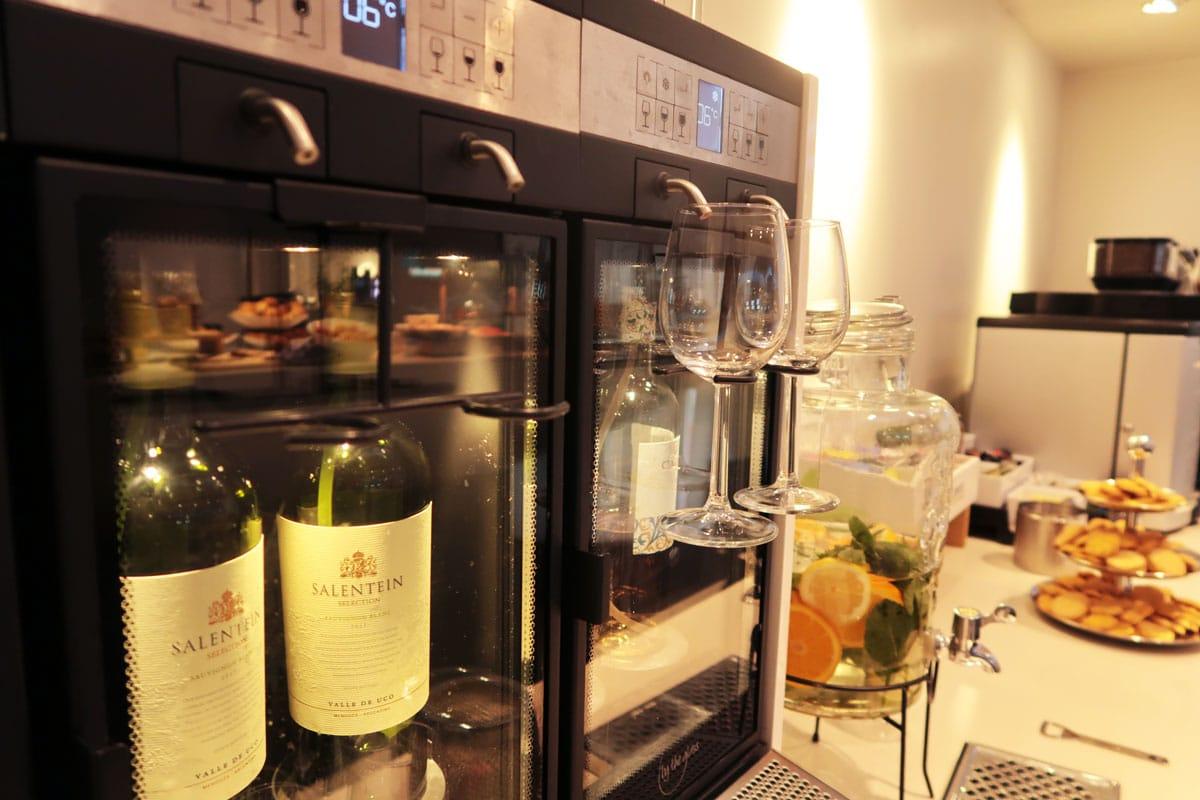 Privium Clublounge drankjes en wijn