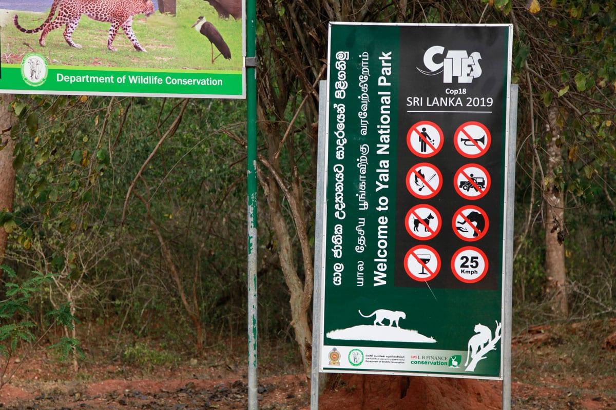 Yala National Park regels