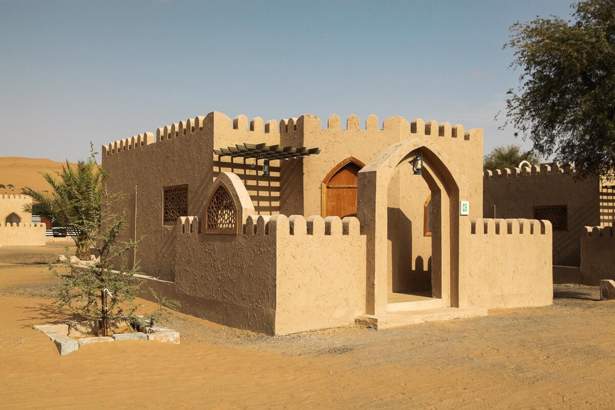 Luxe huisjes in de woestijn van Oman