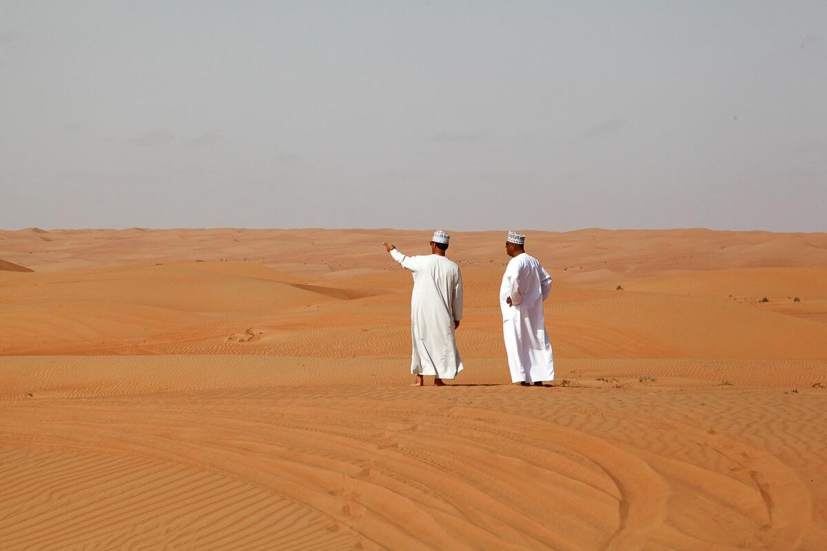 Tour door de woestijn in Oman