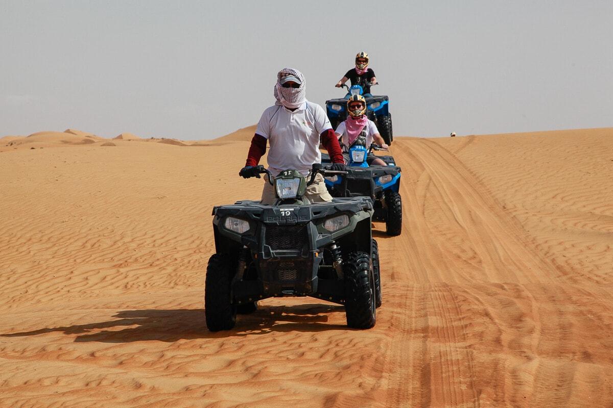 Quad rijden Wahiba Sands Oman
