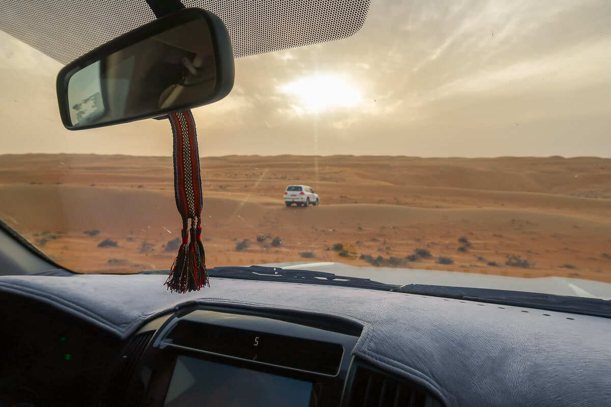 Rijden in Wahiba Sands 4x4 auto