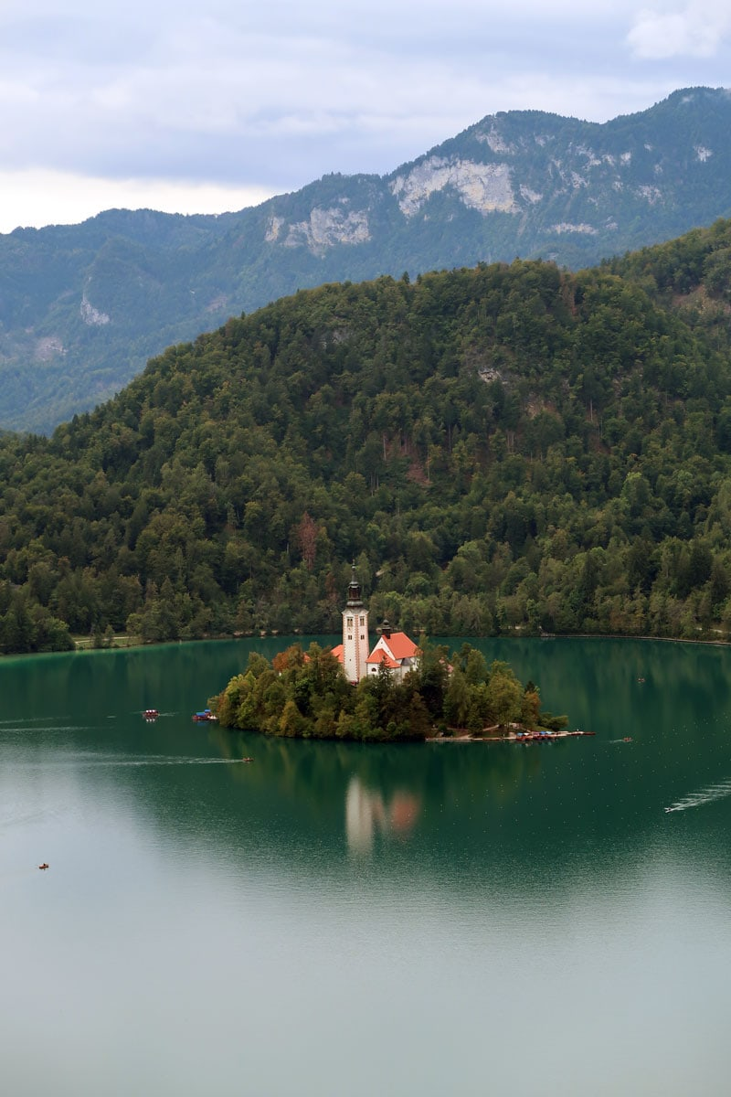 route Slovenië meer van Bled