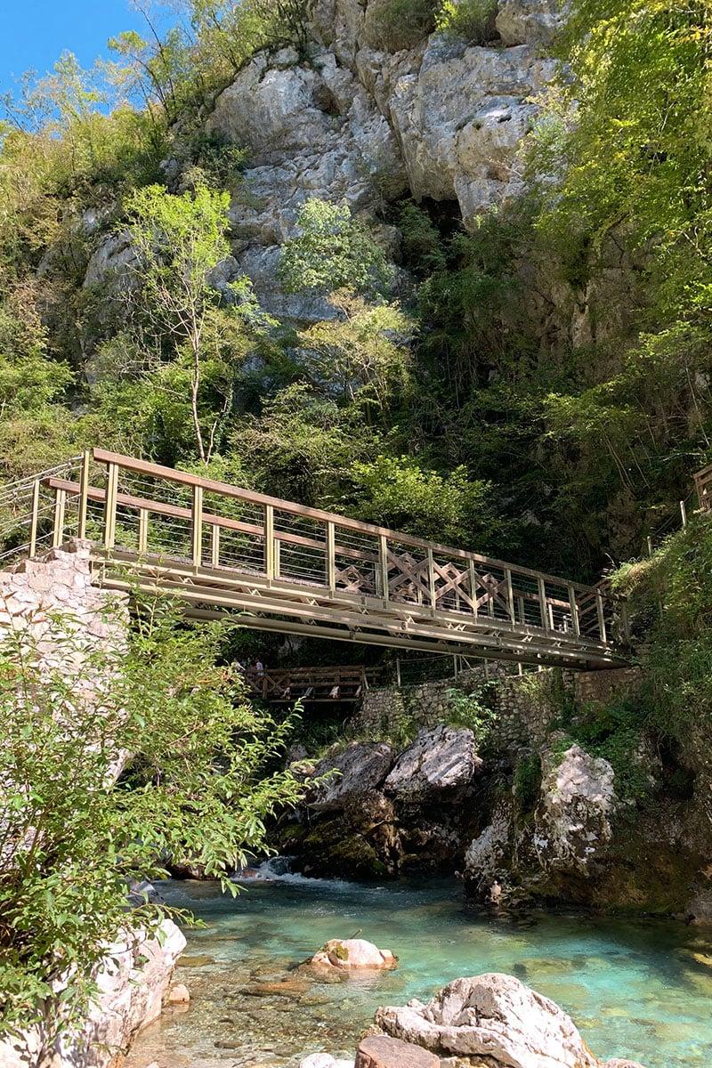 Tolmin Gorge route Slovenië