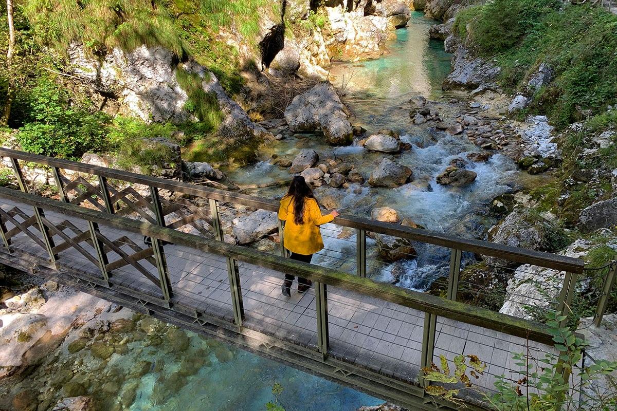Slovenië reisroute Tolmin Gorge