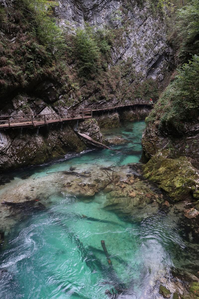 Vintgar Gorge Slovenië route