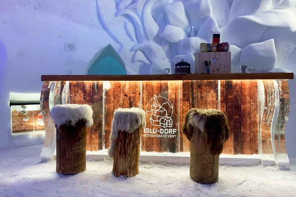 Het Iglu Dorf ijshotel in Oostenrijk