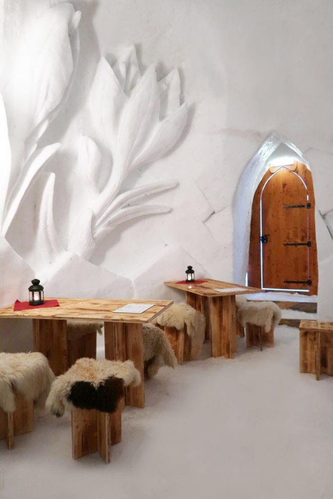 Het Iglo Dorf ijshotel in Kuhtai