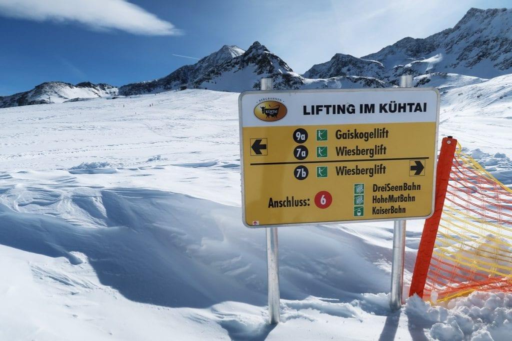 Skiliften in skigebied Kühtai