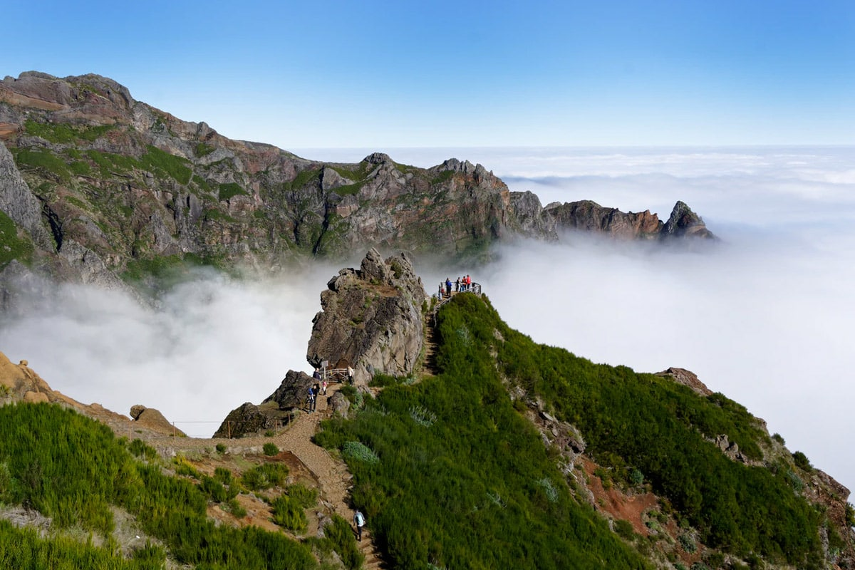 Pico do Areeiro uitkijkpunt madeira