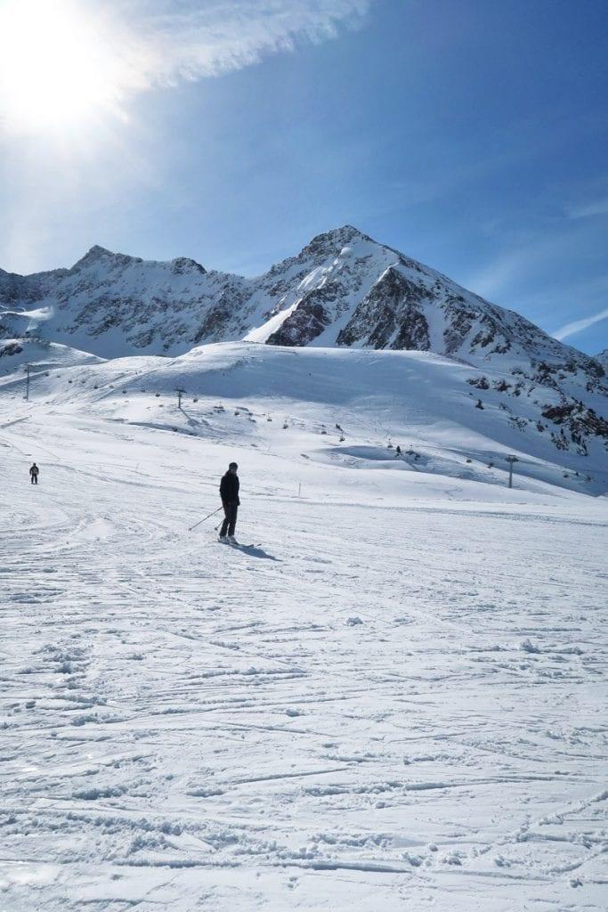Skiën in het Oostenrijkse skigebied Kühtai