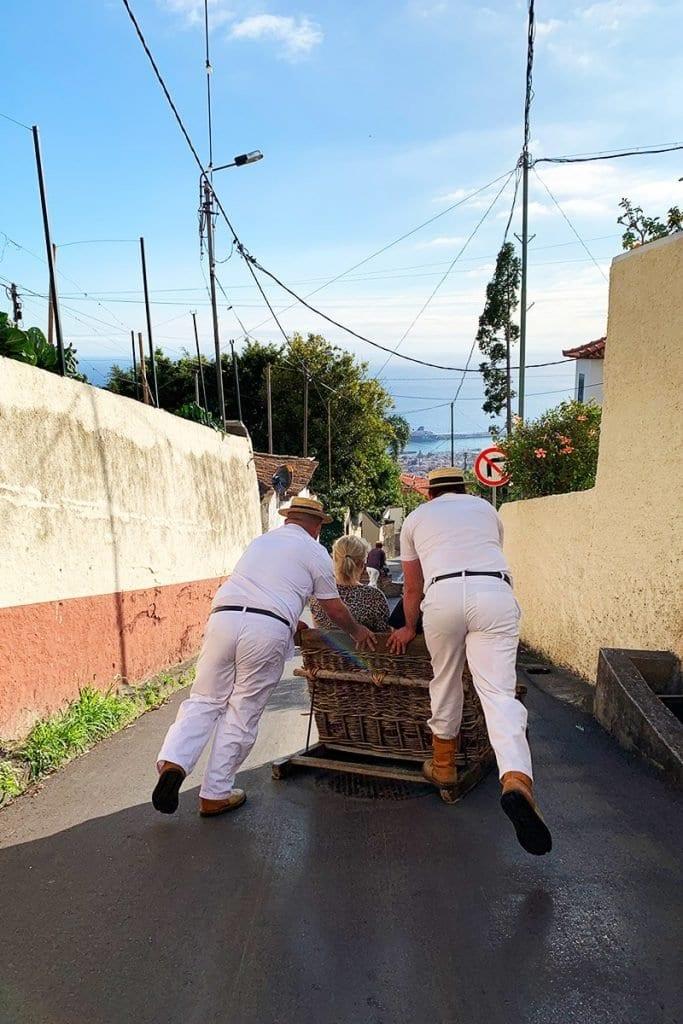 Toboggon ritje slee Madeira