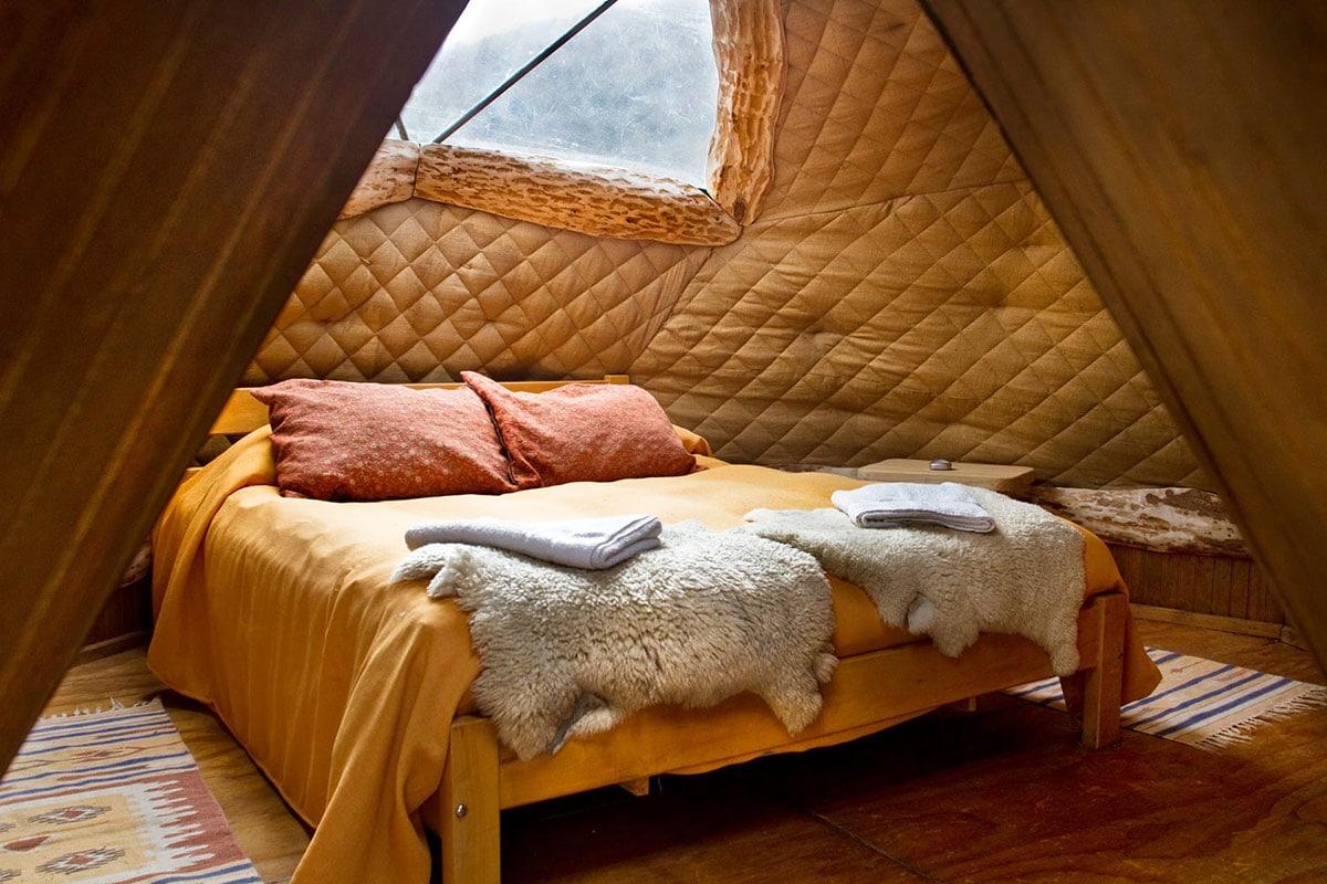Rondreis Patagonië kamperen dome