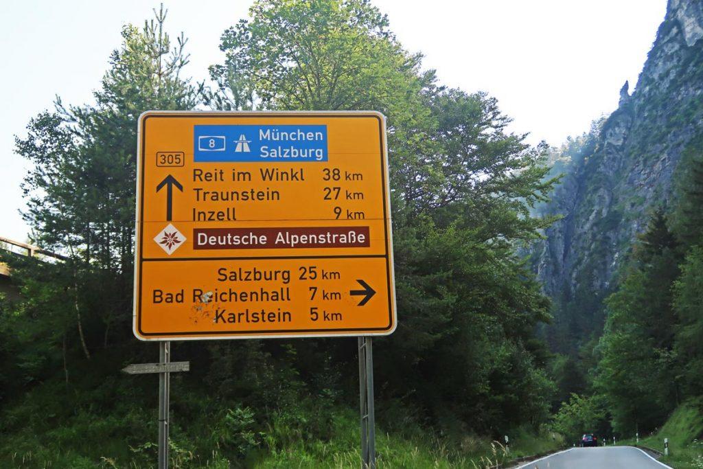 Deutsche Alpenstraße Duitse Alpenroute